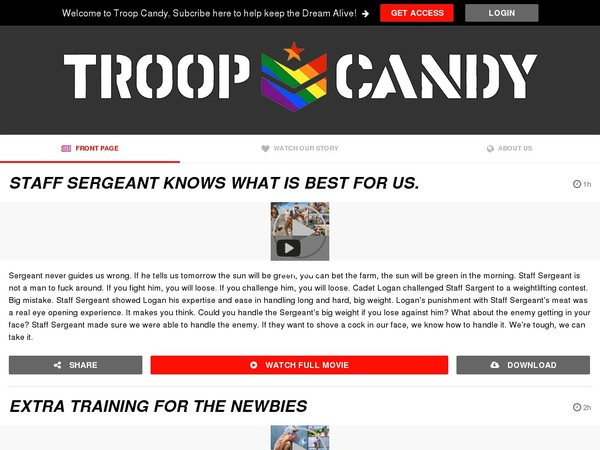 Troop Candy Valid Password