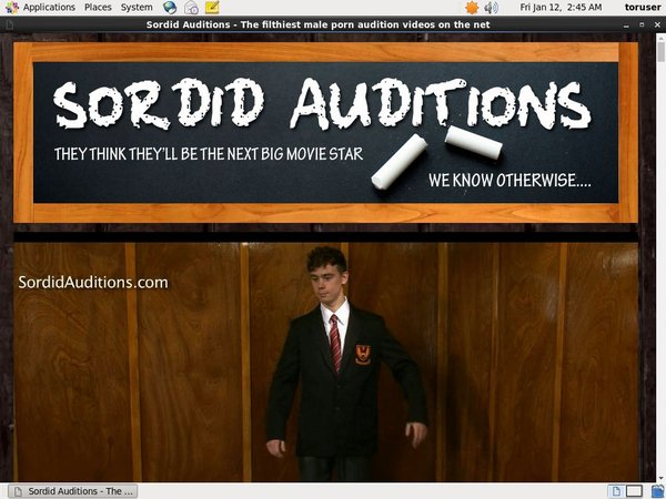 User Pass Sordid Auditions