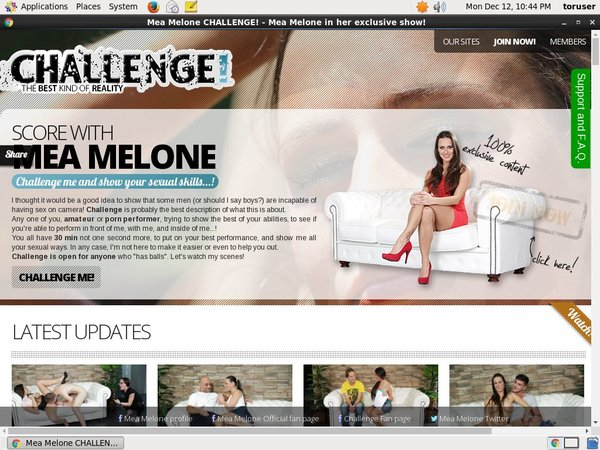 Melonechallenge.com With Paypal